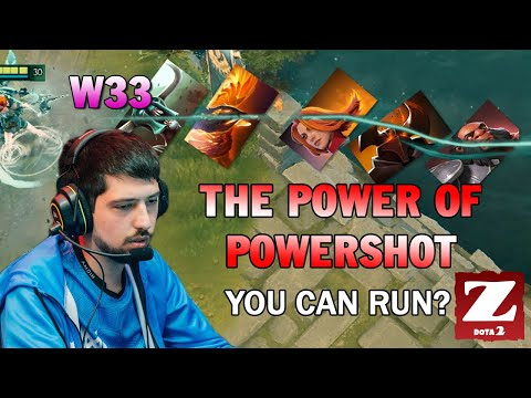 W33 WINDRANGER Mid - THE POWER OF POWERSHOT DOTA 2