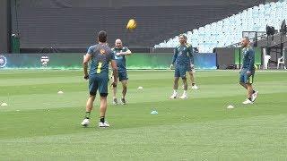 Watch: Finch & co. prepares ahead of series decider at MCG | Australia vs India
