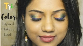 Image for video on Indian Tricolor Inspired Makeup Look | Independence Day Collaboration | Ria Rajendran by Ria Rajendran