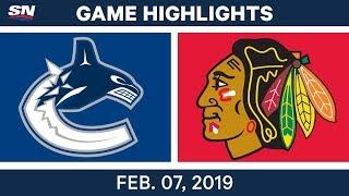 NHL Highlights   Canucks vs. Blackhawks - Feb. 7, 2019