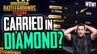 CARRIED IN DIAMOND? BEAST SQUAD GAMEPLAY! PUBG Mobile