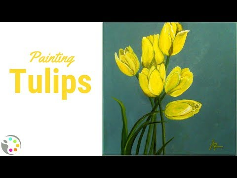 How To Paint Tulips with Acrylics Tutorial