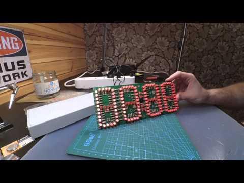 #7 Large Screen Remote Clock Electronic DIY Kit Aluminum Cover – Banggood SKU206172