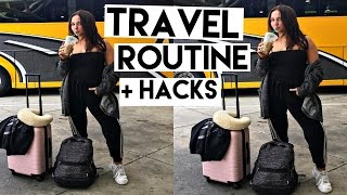 TRAVEL ROUTINE! | Kenzie Elizabeth