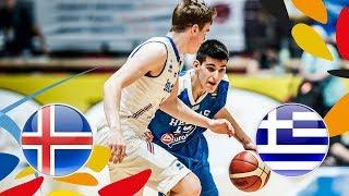 Iceland v Greece - Full Game - Class. 13-16 - FIBA U20 European Championship 2018 | Kholo.pk