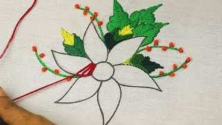 Latest Fantasy Flower Embroidery Designs For Christmas Decoration With Easy Hand Embroidery Stitches