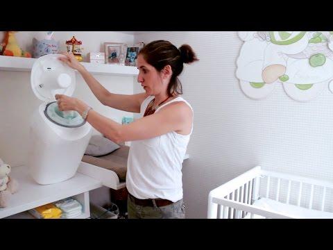 ¿Cómo se usa el contendedor de pañales SANGENIC?