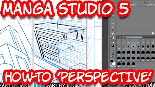 """How to 'Perspective"""" Manga Studio 5EX - Scribbles with Jonathan"""