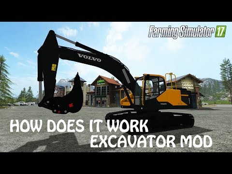 HOW A EXCAVATOR MOD WORKS In Farming Simulator 2017 | DOOOPE | PC | PS4 | Xbox One