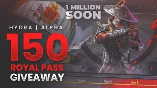 🔴PUBG MOBILE LIVE : 1 MILLION OP FAMILYY!! (GIVEAWAY DAY #3) || H¥DRA | Alpha 😎😍