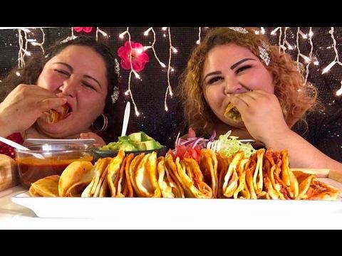 El reto de los tacos /Mukbang en español