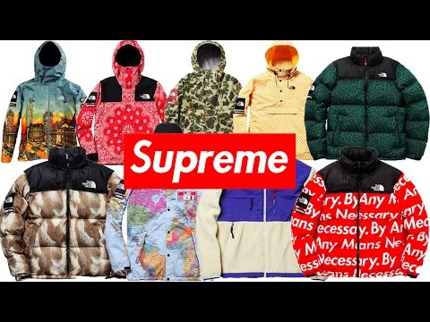 ALL SUPREME X THE NORTH FACE JACKETS EVER MADE