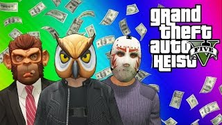 GTA 5 Heists #1: Stealing the Plane & Prison Bus! (GTA 5 Online Funny Moments) [Part 1]