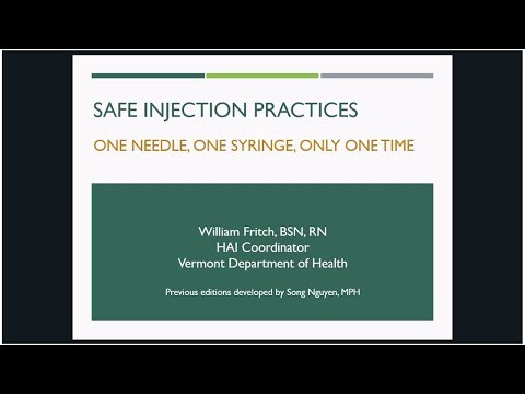 Introduction to Safe Injection Practices