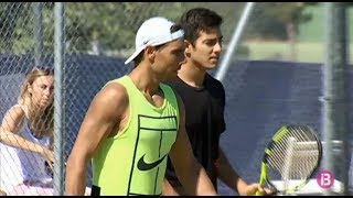 Rafael Nadal's Practice With Christian Garin In Mallorca, 21 June 2017