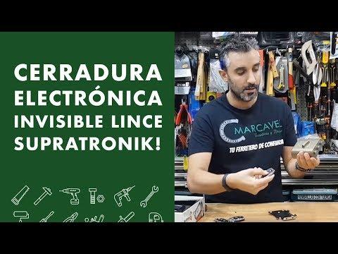 Cerradura electrónica invisible LINCE SUPRATRONIK!