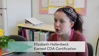 ECE Senior earns CDA Credential