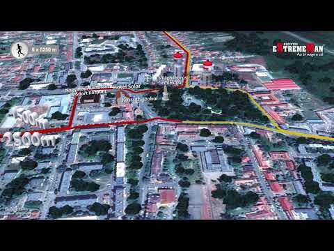 eXtremeMan pályabemutató: a futás útvonala