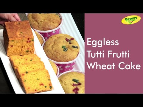 Eggless Tutti Frutti Wheat Cake | Kids Favorite Cake Recipe | TeluguOne Food