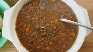 Easy Lentil Soup Recipe. Mauritian Lenti Noire. Black Lentil Soup