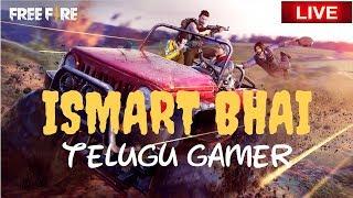 NEW UPDATE WITH SUBSCRIBERS || TELUGU FREEFIRE GAMING  || TELUGU || ISMART BHAI Live Stream