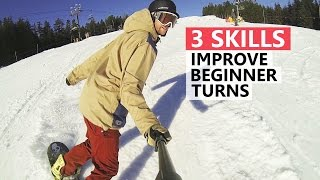 #15 Snowboard begginer – Skills to improve snowboard turns