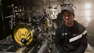 Josh Dun of twenty one pilots Drum Kit Tour 2019 - SJC Custom Drums