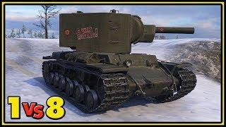 KV-2 - 1 vs 8 - World of Tanks Gameplay