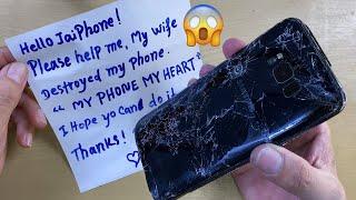 Destroyed Phone restoration | Restore Samsung Galaxy S8 Plus | Rebuild Broken Phone