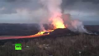 More Apocalyptic Scenes: Kilauea volcano lava river flows in Hawaii