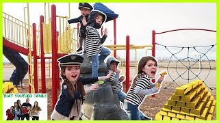 COPS AND ROBBERS Get The Gold!   Playground Wars  That YouTub3 Family