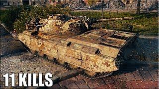 Progetto M35 mod 46 лучший бой 🌟 11 ФРАГОВ 🌟 World of Tanks новый прем танк Италии 8 уровень