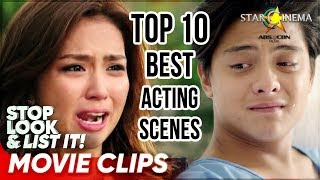 Top 10 Kathryn and Daniel's Best Acting Scenes | Stop, Look, and List It!
