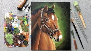 Painting A Horse With Acrylic Paint L Available For Purchase!