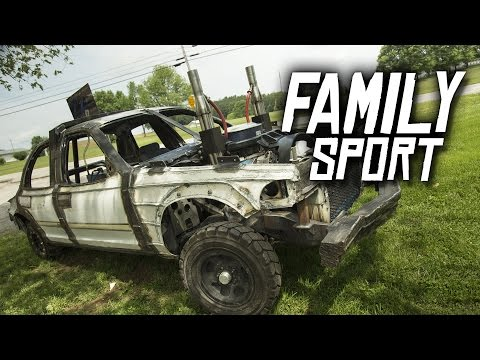 Family Sport - Logan Duvall's Demolition Derby Car