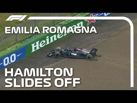 ルイス・ハミルトンがコースオフ。脱出に失敗してフロントウィングを破損するも2位フィニッシュ 動画