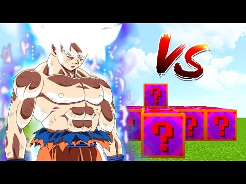 DESAFIO LUCKY BLOCKS VS GOKU ULTRA INSTINTO PERFECTO EN MINECRAFT - RETO MINECRAFT DRAGON BALL SUPER