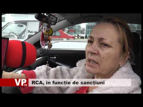 RCA, în funcție de sancțiuni