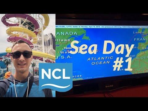 Transatlantic Cruise Sea Day 1 l NCL Cruise l Ep. 9