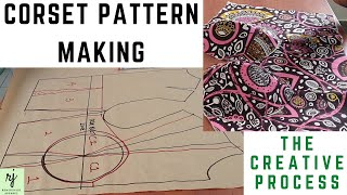 HOW TO DRAFT A CORSET PATTERN|| HOW TO MAKE A CORSET TOP|| CORSET MAKING TUTORIAL|| REMI JUNAID