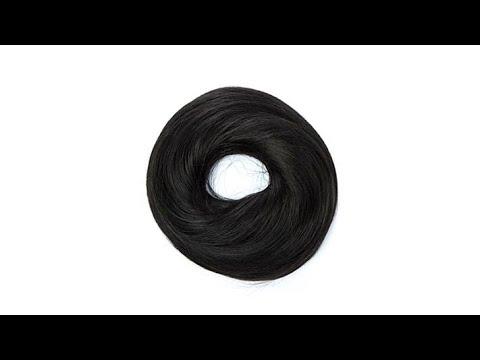 Hair2wear Messy Bun Hair Wrap Almost Black/Ebony