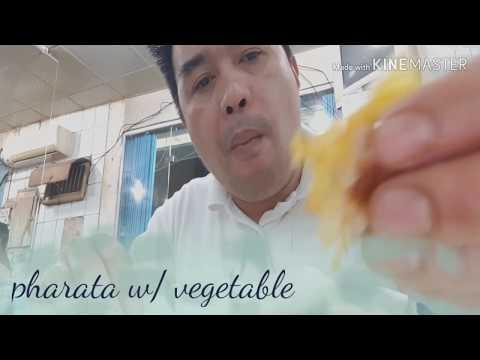 Mukbang pharata food w/vegetable