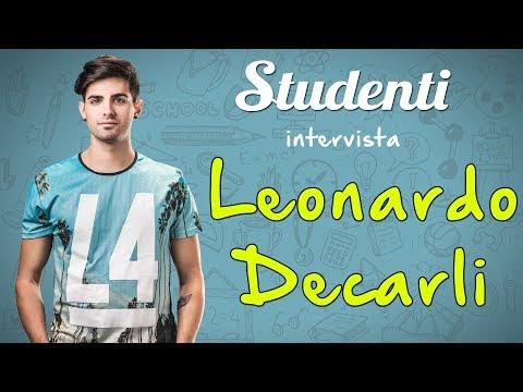 Leonardo Decarli: intervista a studenti.it