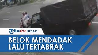 Viral Video Emak-emak Tertabrak Mobil Pikap di Tulungagung, Niat Berbelok Malah Terseret di Jalan