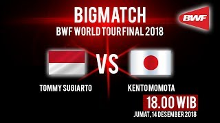 Live Streaming BWF World Tour 2018, Bigmatch: Kento Momota Vs Tommy Sugiarto
