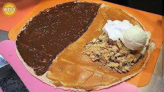 숙대입구 │ 치즈케익 아이스크림 크레페 │ Crepe with Cheesecake and Ice Cream │ 한국 길거리 음식 │ Korean Street Food