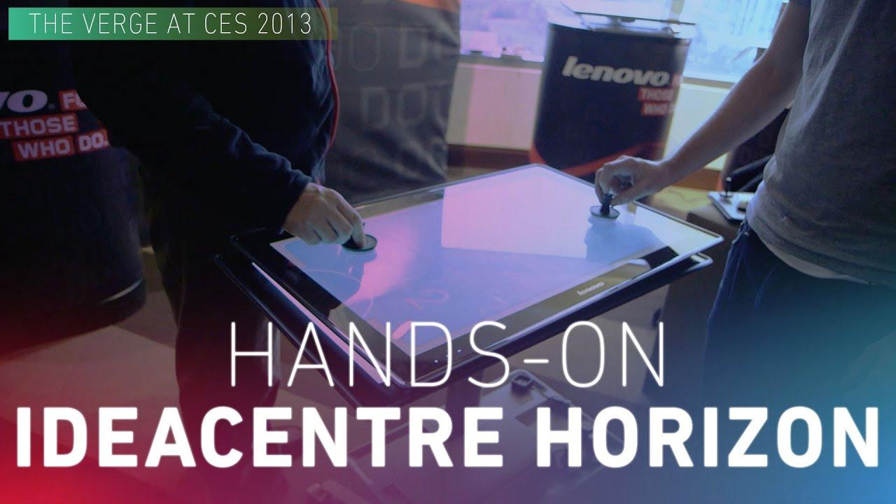 Computer transforms into table: Lenovo IdeaCentre Horizon thumbnail