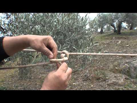 Top nudo para tensar una cuerda sin mosquetones