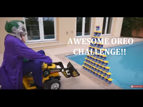 AWESOME OREO CHALLENGE! Movie Kids Toys, Family FUN in Real Life.