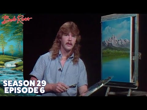 Steven Ross, son of Bob Ross, would occasionally take over the show and the results were equally wholesome.